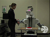 Maya Cakmak interacting with Rosy the Robot
