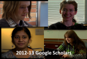 photos of 2012-13 Google scholars